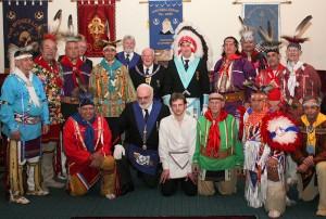 Oklahoma Native American Masonic Degree Team 3