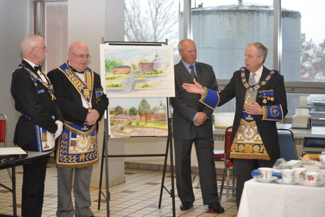 Masons kick off Digby health services fundraising campaign with $17,000 donation