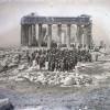 Greek Freemasons demostrating at the Acropolis of Athens