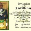 Grand Lodge of Ghana Installation