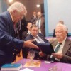 Charles L. Younger received a certificate for 50 years of membership in the Masonic Fraternity